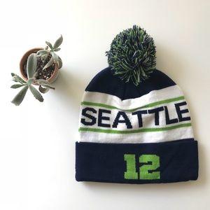 {seattle seahawks} nfl football team knit beanie